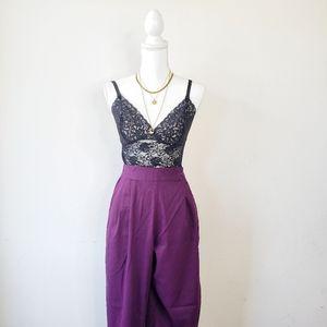 Vintage Purple High Waisted Pants 80's
